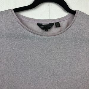 Ted Baker Tops - Ted Baker Sparkle Tee Small (2) Short Sleeve A19